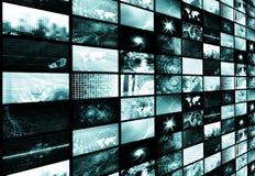 Fond abstrait de medias futuristes bleus Image libre de droits