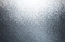 Fond abstrait de miroitement métallique Texture argentée de grains Illustration grise brillante photos stock