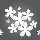 Fond abstrait de modèle de fleur 3d de papier pour le papier peint, le modèle, le Web, le blog, la surface, les textures, le grap Photos libres de droits
