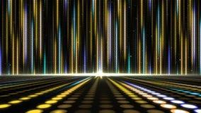 Fond abstrait de modèle de points légers de mouvement de Digital pour la conception d'étape photographie stock libre de droits