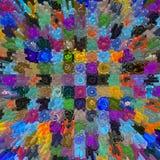 Fond abstrait de mosaïque avec des mandalas Image libre de droits