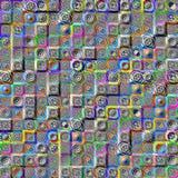 Fond abstrait de mosaïque avec des mandalas Photo libre de droits