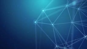 Fond abstrait de mouvement de boucle de la Science de technologie de réseau de plexus illustration libre de droits