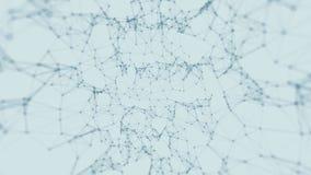 Fond abstrait de mouvement de technologie et de science Beau plexus avec des points Boucle sans couture illustration de vecteur