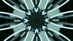 Fond abstrait de mouvement de kaléidoscope Graphiques multicolores d'ordre illustration stock