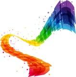 Fond abstrait de mouvement, vague colorée géométrique Photographie stock