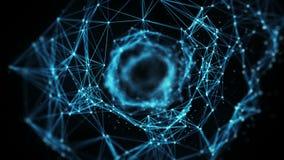 Fond abstrait de mouvement - vol par le tunnel Alpha Matte de Digital