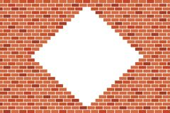 Fond abstrait de mur de briques de Brown - dirigez la conception illustration libre de droits