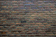 Fond abstrait de mur de briques avec le vieux mur de briques Photos stock