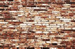Fond abstrait de mur de briques de plan rapproché Photo libre de droits
