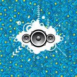 Fond abstrait de musique Images libres de droits