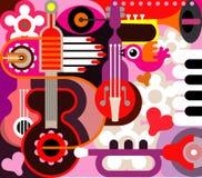 Fond abstrait de musique Images stock