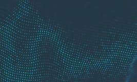 Fond abstrait de musique Grande visualisation de l'écoulement de particules de données Illustration futuriste infographic de la S illustration stock