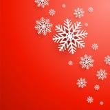 Fond abstrait de Noël avec des flocons de neige Images libres de droits