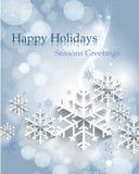 Fond abstrait de Noël avec des flocons de neige illustration libre de droits