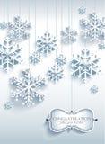 Fond abstrait de Noël avec des flocons de neige illustration de vecteur