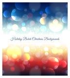 Fond abstrait de Noël de bokeh de vacances Image libre de droits