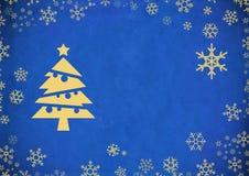 Fond abstrait de Noël de cru Images stock