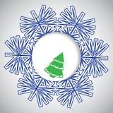Fond abstrait de Noël de l'hiver Photo libre de droits