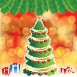 Fond abstrait de Noël de l'hiver Photo stock