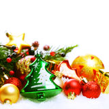 Fond abstrait de Noël pendant des vacances d'hiver Image stock