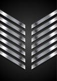 Fond abstrait de noir de technologie avec les rayures métalliques Photographie stock