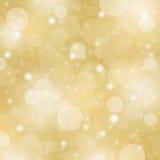 Fond abstrait de Noël d'or Images libres de droits