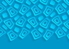 Fond abstrait de papier géométrique bleu illustration de vecteur