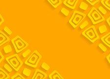 Fond abstrait de papier géométrique jaune illustration stock