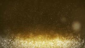 Fond abstrait de particules d'or mobiles clips vidéos