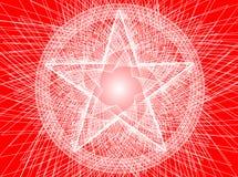Fond abstrait de pentagram Photographie stock libre de droits
