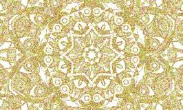 Fond abstrait de petits points formant un mandala Images stock