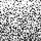 Fond abstrait de Pixel Configuration noire et blanche géométrique Ornement Photo stock
