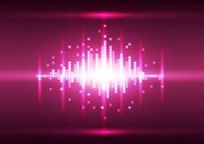 Fond abstrait de pixel de rose de couleur, vecteur Image stock