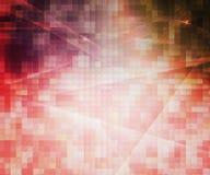 Fond abstrait de Pixel rouges Images libres de droits