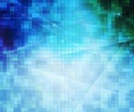 Fond abstrait de pixels bleus Image libre de droits