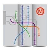 Fond abstrait de plan de métro de cru Photographie stock libre de droits