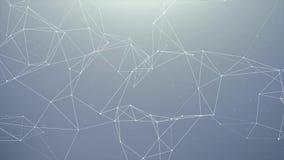 Fond abstrait de plexus avec la boucle organique originale Aniamation de mouvement illustration stock
