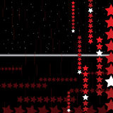 Fond abstrait de pointe avec des étoiles. Vecteur. Photo stock