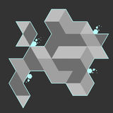 Fond abstrait de polygone Image libre de droits