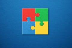 Fond abstrait de puzzle Image libre de droits