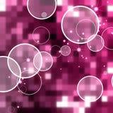 Fond abstrait de rose de cercle Illustration Stock