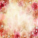 Fond abstrait de roses Image stock