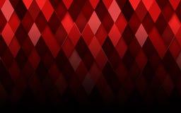 Fond abstrait de rouge de losange Illustration de vecteur Image libre de droits