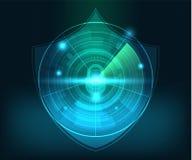 Fond abstrait de sécurité de réseau de technologie illustration de vecteur