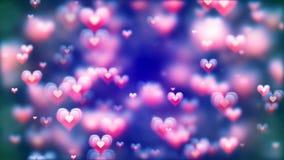 Fond abstrait de Saint-Valentin, coeurs volants illustration libre de droits