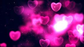 Fond abstrait de Saint-Valentin, coeurs volants illustration de vecteur