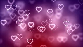 Fond abstrait de Saint-Valentin, coeurs volants illustration stock