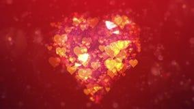 Fond abstrait de Saint-Valentin, loopable clips vidéos