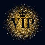 Fond abstrait de scintillement de lueur d'or de VIP Images libres de droits